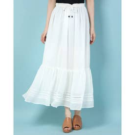 Yoryu Knit Tirered SKIRT (OFFWHITE)