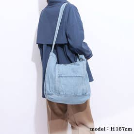 【ネット限定】ビンテージ風 デニムバック 手持ち☆ショルダー 2wayタイプ (BLUE)