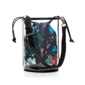 【mina7月号掲載商品】 バケツ型クリア3wayショルダーミニバッグ とってもおしゃれで可愛いバッグです (BLACK/FW)