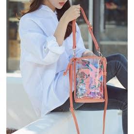 【2021新作】バケツ型クリア3wayショルダーミニバッグ とってもおしゃれで可愛いバッグです (S・PINK/FW)