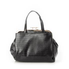 【注目アイテム】人気上昇中のがま口、ショルダー&ボストンバッグが3素材を使用し入荷! (BLACK/型押)