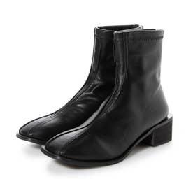 【ネット限定】スクエアトゥストレッチブーツ 新色が揃い入荷 春を意識したカラーでコーデ (BLACK)