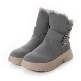 【ネット限定】カジュアルファーブーツ 新入荷商品 あったか保温効果が寒い冬には嬉しいね! (GRAY)