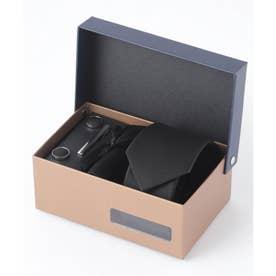老舗英国ブランド シルク100% メンズ スーツ ギフト箱4点セット (ブラック)