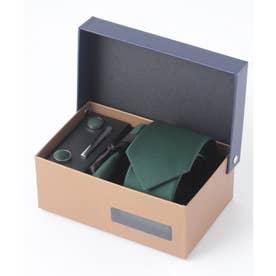 老舗英国ブランド シルク100% メンズ スーツ ギフト箱4点セット (カーキ)