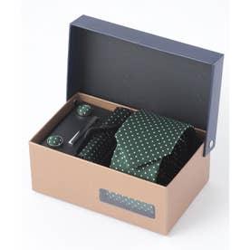 老舗英国ブランド シルク100% メンズ スーツ ギフト箱4点セット (グリーン系その他)