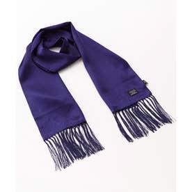 英国老舗ブランド100% ピュアシルク ドットスカーフ (ネイビー)
