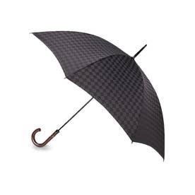 市松長傘 (チャコールグレー)