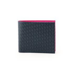 マルチカラー2つ折り財布 [ 財布 二つ折り カラフル ] (ピンク)