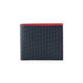 マルチカラー2つ折り財布 [ 財布 二つ折り カラフル ] (ワインレッド)