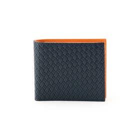 マルチカラー2つ折り財布 [ 財布 二つ折り カラフル ] (ダークオレンジ)