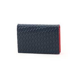マルチカラー名刺カードケース[メンズ 名刺入れ カードケース] (ワインレッド)