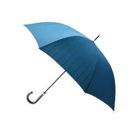 ストライプ柄 長傘 (ライトブルー)