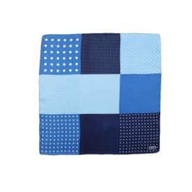 9面ポケットチーフ (ブルー系(594))