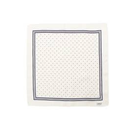 ドットプリントポケットチーフ (ホワイト)