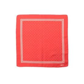 ドットプリントポケットチーフ (ダークオレンジ)