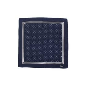 ドットプリントポケットチーフ (ブルー系)