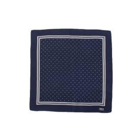 ドットプリントポケットチーフ (ブルー系(594))
