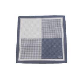 4面ポケットチーフ (ブルー(092))