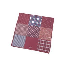 9ボックスポケットチーフ (ボルドー(564))