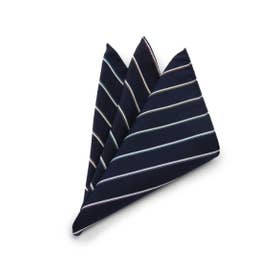 12色マルチカラーポケットチーフ[ メンズ チーフ 結婚式 ] (ネイビー)