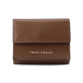 3つ折り コンパクト 財布 (ブラウン)