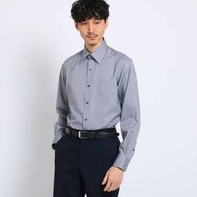 マイクロドットブロードシャツ[ メンズ トップス シャツ ビジネス 結婚式 ノンアイロン ] (ライトグレー)