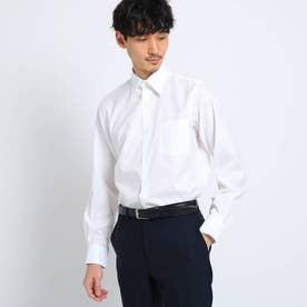 マイクロドットブロードシャツ[ メンズ トップス シャツ ビジネス 結婚式 ノンアイロン ] (ホワイト)