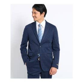 ガンクラブチェック ジャージ ジャケット Fabric by INWOOL (ダークネイビー)