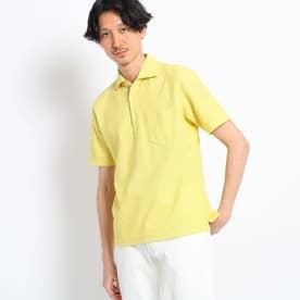 【大きいサイズ/抗菌防臭/Sサイズ~】フレポロ メランジハニカムポロシャツ (イエロー)