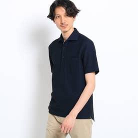 【大きいサイズ/抗菌防臭/Sサイズ~】フレポロ メランジハニカムポロシャツ (ダークネイビー)