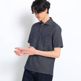 【大きいサイズ/抗菌防臭/Sサイズ~】フレポロ メランジハニカムポロシャツ (ネイビー)