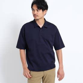 【抗菌防臭】ハイゲージシルケットポンチポロシャツ (ネイビー)