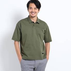 【抗菌防臭】ハイゲージシルケットポンチポロシャツ (モスグリーン)