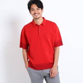 ニットポロシャツ (レッド)
