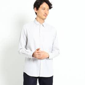 カラードビーリバーストライプシャツ (ホワイト)