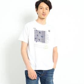 タイポグラフィー立体プリントTシャツ (ホワイト)