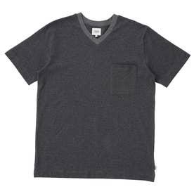 LL)半袖VネックTシャツ (グレー)