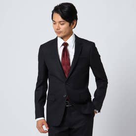 【Sサイズ~】シャイニーヘリンボンストライプ ジャケット (ブラック)