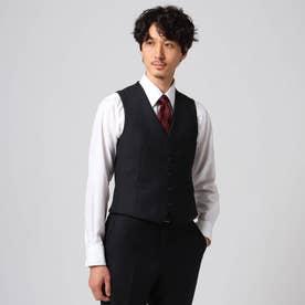 【Sサイズ~】シャドーオルタネイトストライプベスト (ブラック)