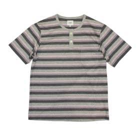 半袖ヘンリーネックシャツ (グレー)