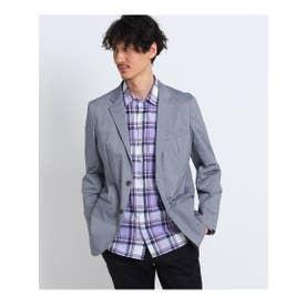 ◆【大きいサイズ】ドビーマルチジャケット (ブルー(092))
