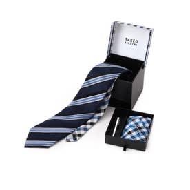 ネクタイ引き出し3点セット (ネイビー)