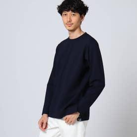 スリットポンチ ロングTシャツ (ネイビー)