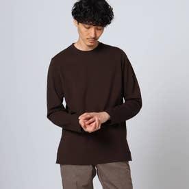 スリットポンチ ロングTシャツ (ブラウン)