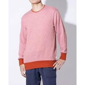 長袖クルーネックシャツ (オレンジ)