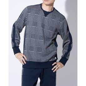 長袖クルーネックシャツ (チャコール)