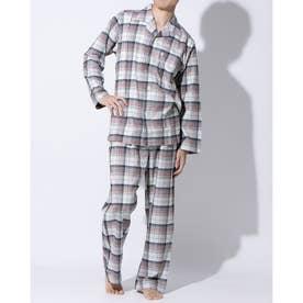 長袖テーラードパジャマ (オートミール)