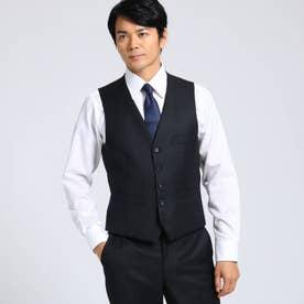 【Sサイズ-】シャドーオルタネイトストライプベスト Fabric by MIYUKI KEORI (ブラック)