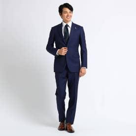 【Sサイズ~】市松紋 セットアップスーツ (ネイビー)
